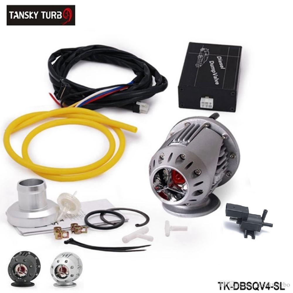 Tansky -- ElectrIcal Diesel SSQV4 SQV4 Blow Off Valve/Diesel Dump Valve/Diesel BOV SQV KIT (Silver Black) TK-DBSQV4