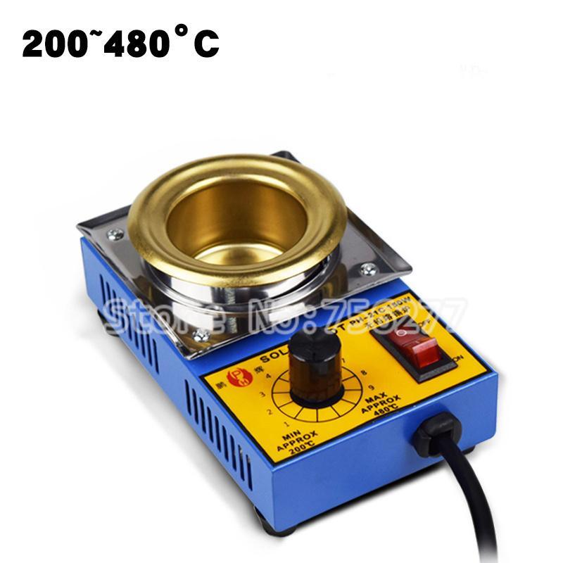 200-480 Degree 50mm Solder Pot Soldering Desoldering Bath Titanium Plate Supply