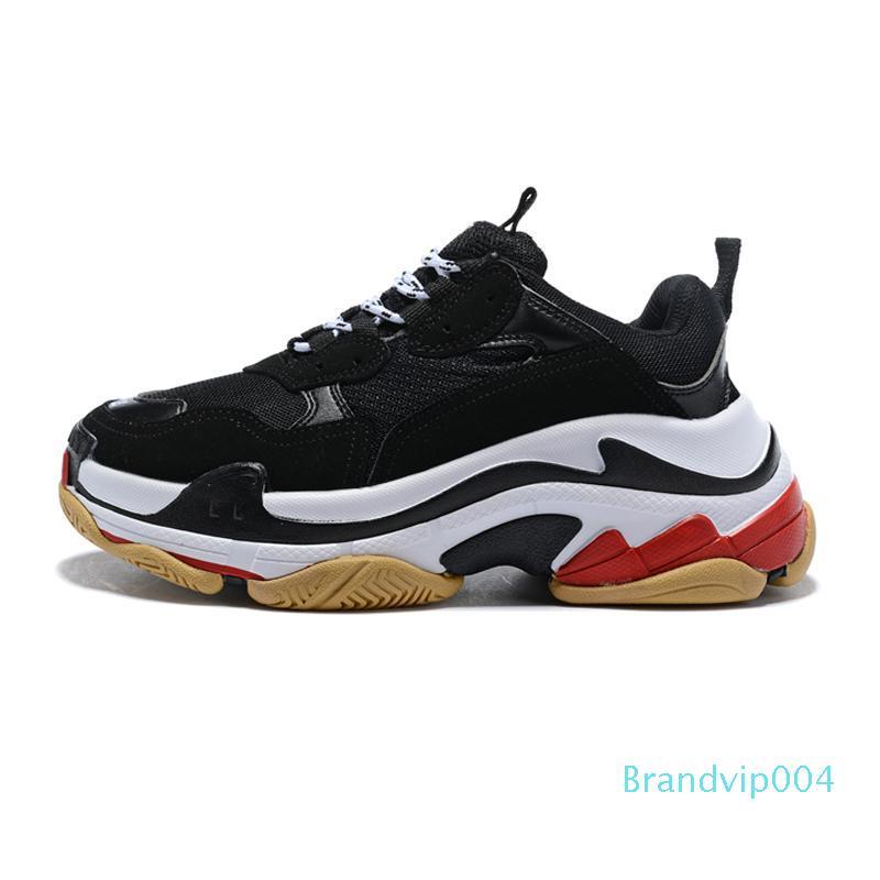 2020 Pattini a tre s del progettista per le scarpe da tennis della piattaforma donne degli uomini nero bianco grigio rosso mens rosa formatori moda scarpa da tennis casuale papà scarpe 35-45