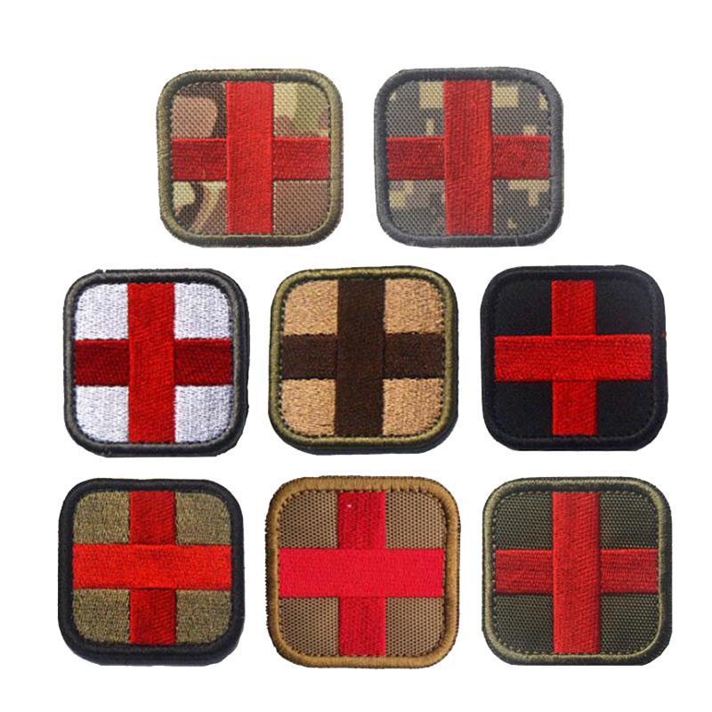 Rotes Kreuz medizinische 3D bestickte Armband taktische medizinische Rettung Moral Abzeichen Kleidung Rucksack Hut Jacke dekorative Patch
