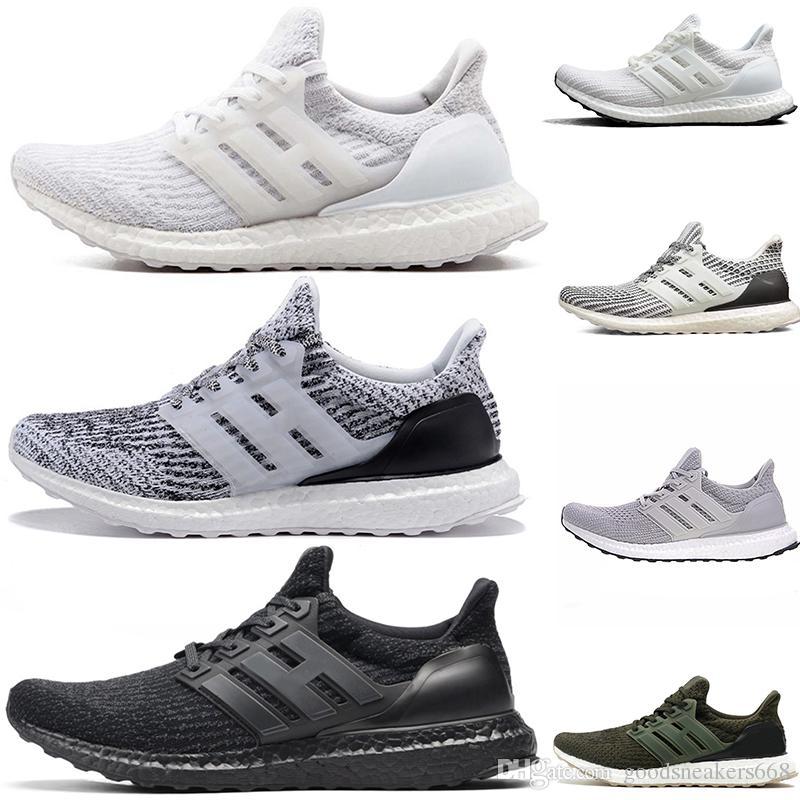 Adidas ultra boost 3.0 4.0 Chaussures de course sneaker 3.0 4.0 Triple Noir Homme Femmes Meilleure Qualité Hypebeast Primeknit Core Noir Blanc Sport sportif discount