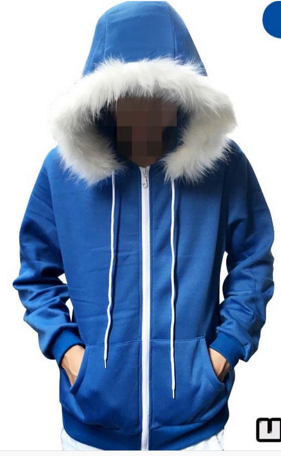 Undertale Sans Cosplay Blue Hoodie Hooded Sport Costume Jacket Coat Sweater Tops