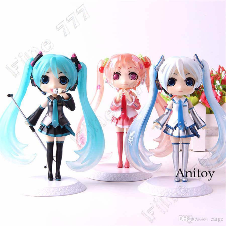 QPosket Q Posket Vocaloid Hatsune Miku Miku Figura neve Sakura azione PVC Figure Collection Model Toys