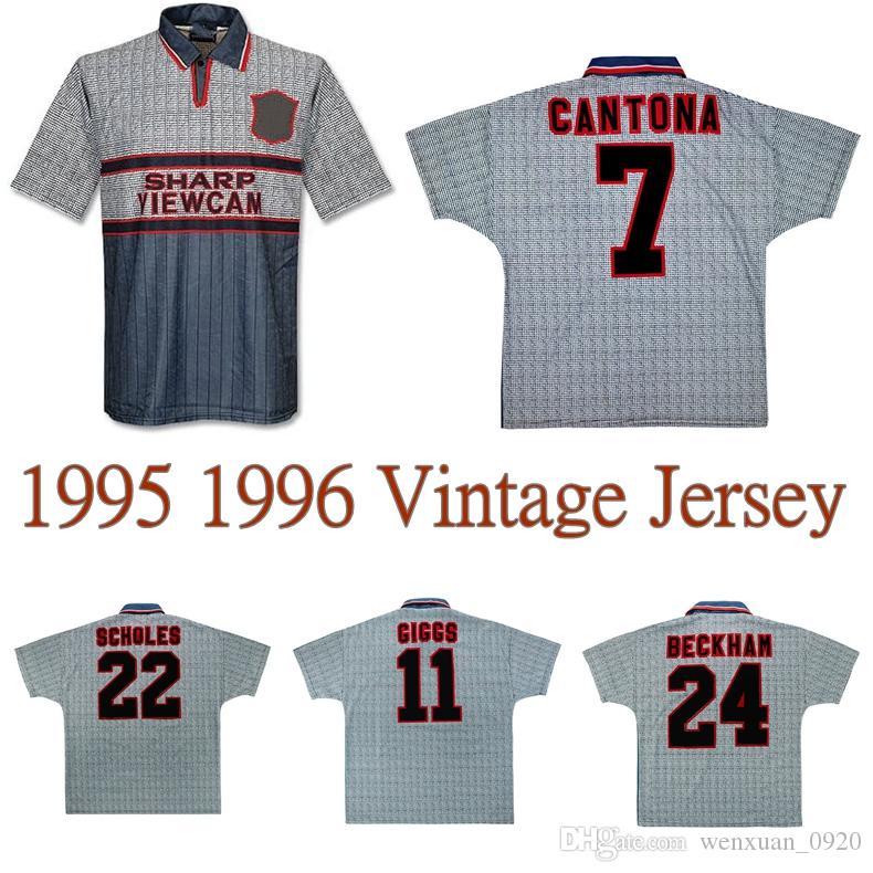 CANTONA 1994 1996 BECKHAM SCHOLES Keane GIGGS camisa de futebol distância retro camisa de futebol clássico 94 95 96 INCE IRWIN Cole HUGHES vindima