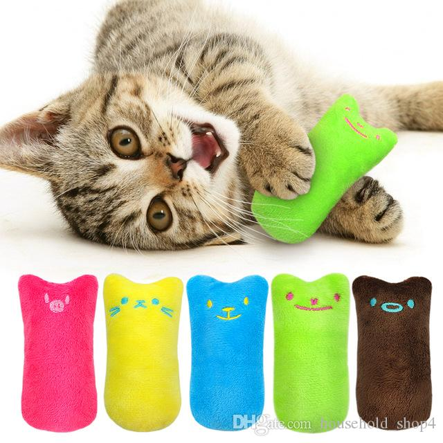 Funny Interactive Plush Cat Toy Pet Kitten Chewing Toy Teeth Grinding Catnip Toys Claws Thumb Bite Cat mint For Cats Cat Supply