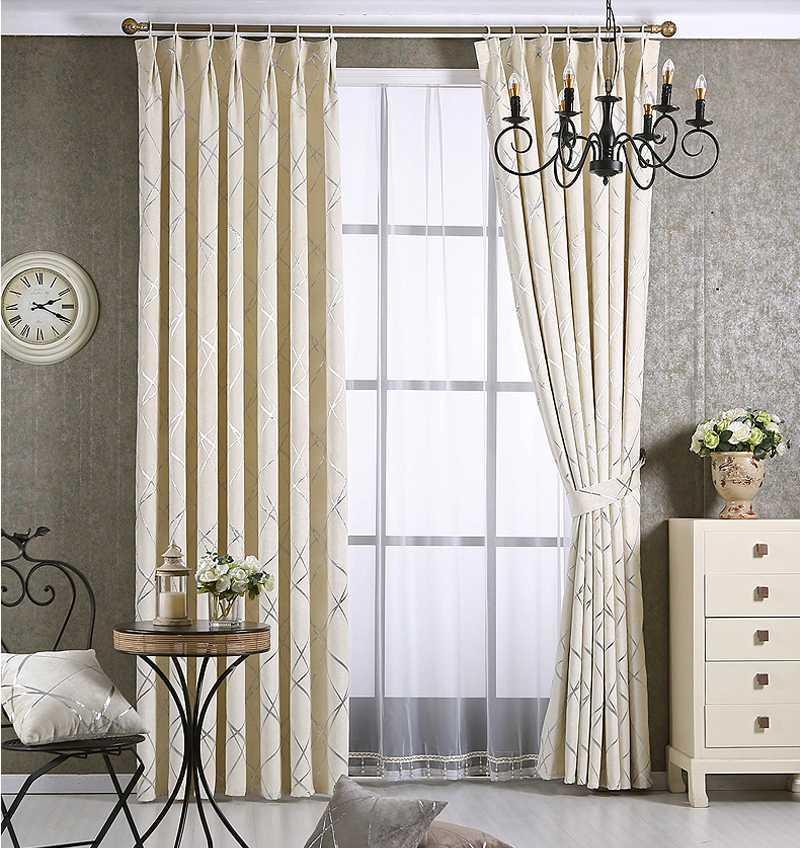Tende moderne in ciniglia di alta qualità Geometrice jacquard modello finestra tende oscuranti per soggiorno camera da letto su misura