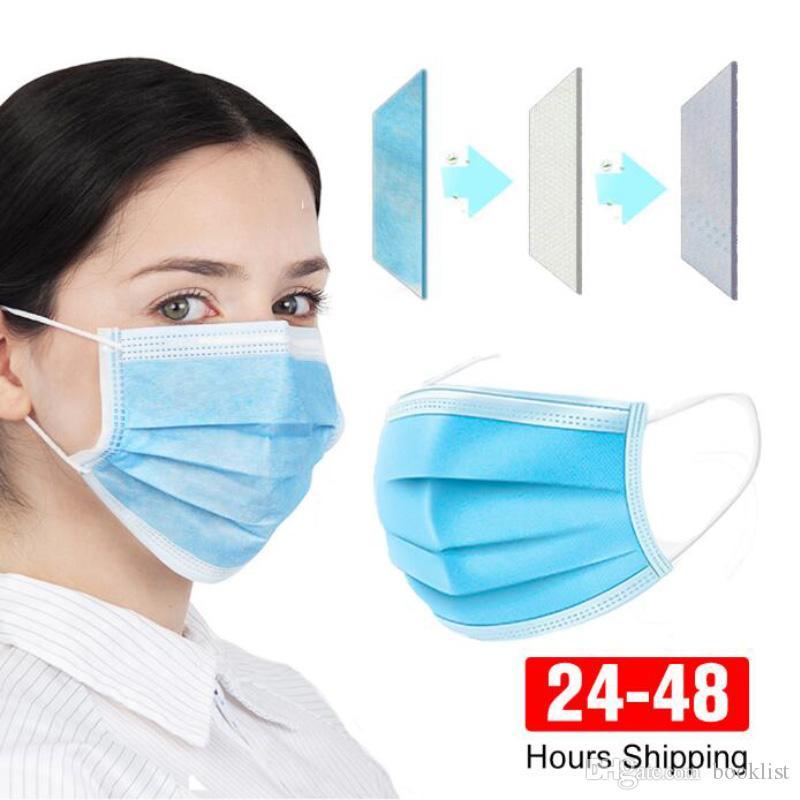 Máscaras desechables desechables Face 3 capas a prueba de polvo facial de la máscara Máscaras de la cubierta protectora de la máscara anti-polvo envío gratis