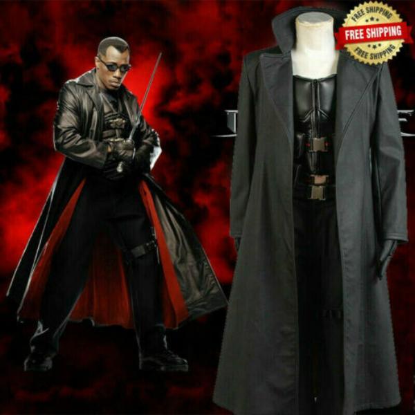 Bıçak Wesley Snipes Cosplay Kostümler Vampire Slayer Vest Suit Cadılar Bayramı Üniforma