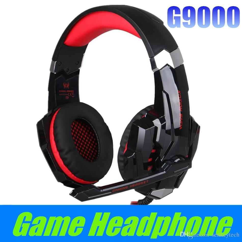 YENI HER G9000 Gaming Headset HIFI Stereo 3.5mm Oyun Kulaklık Bilgisayar Oyunu Kulaklık Için Mic Ile LED Işık Tablet PC PS4 X-BOX