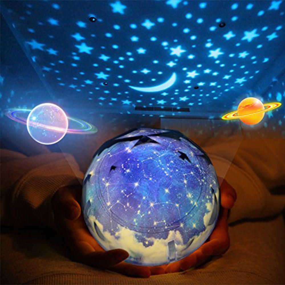 Starry Universe Night Lights romantique Rotating Sea Star Lampe de projection Dimmer Projecteur LED pour enfants Chambre Cadeau Veilleuse