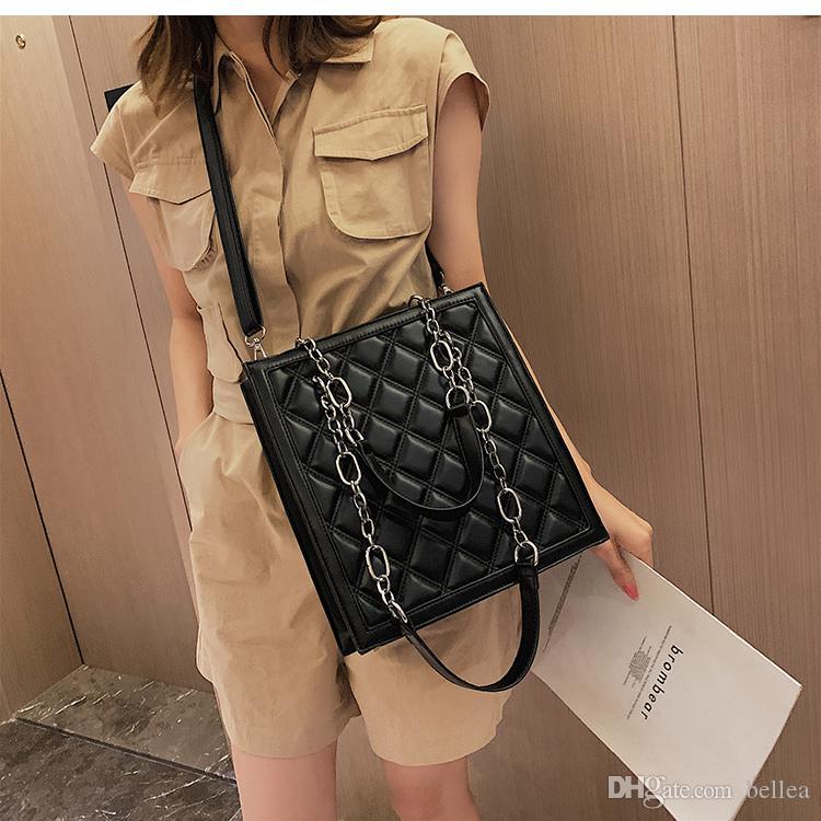 Elegante weibliche beiläufige große Einkaufstasche 2019 Designer-Handtaschen-Schulter-Kuriertasche der neuen Qualitäts-PU-Leder-Frauen