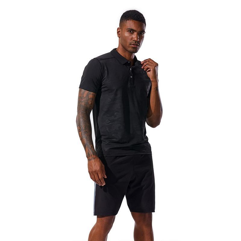 Chemise sport hommes collants fitness haut vêtements décontractés en cours d'exécution t-shirt T-shirt noir chaud à séchage rapide sportswear homme respirant