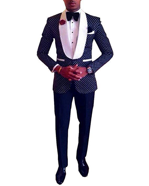 Nuovo arrivo Smoking dello sposo Groomsmen Scialle Bianco Risvolto Best Man Suit / Sposo / Matrimonio / Abiti da ballo (Jacket + Pants + Tie + Hankerchief) K632