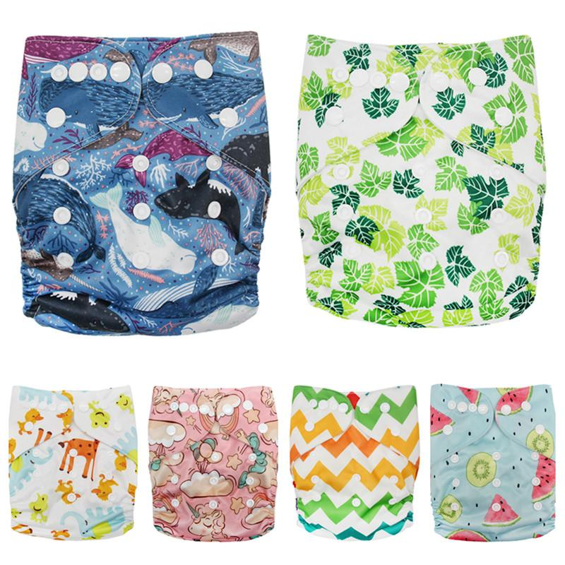 Washable Cloth Nappy Baby Diaper Pocket Nappy Cloth Cover Wrap Reusable Diapers One Size Adjustable Breathable Baby Care Diapers