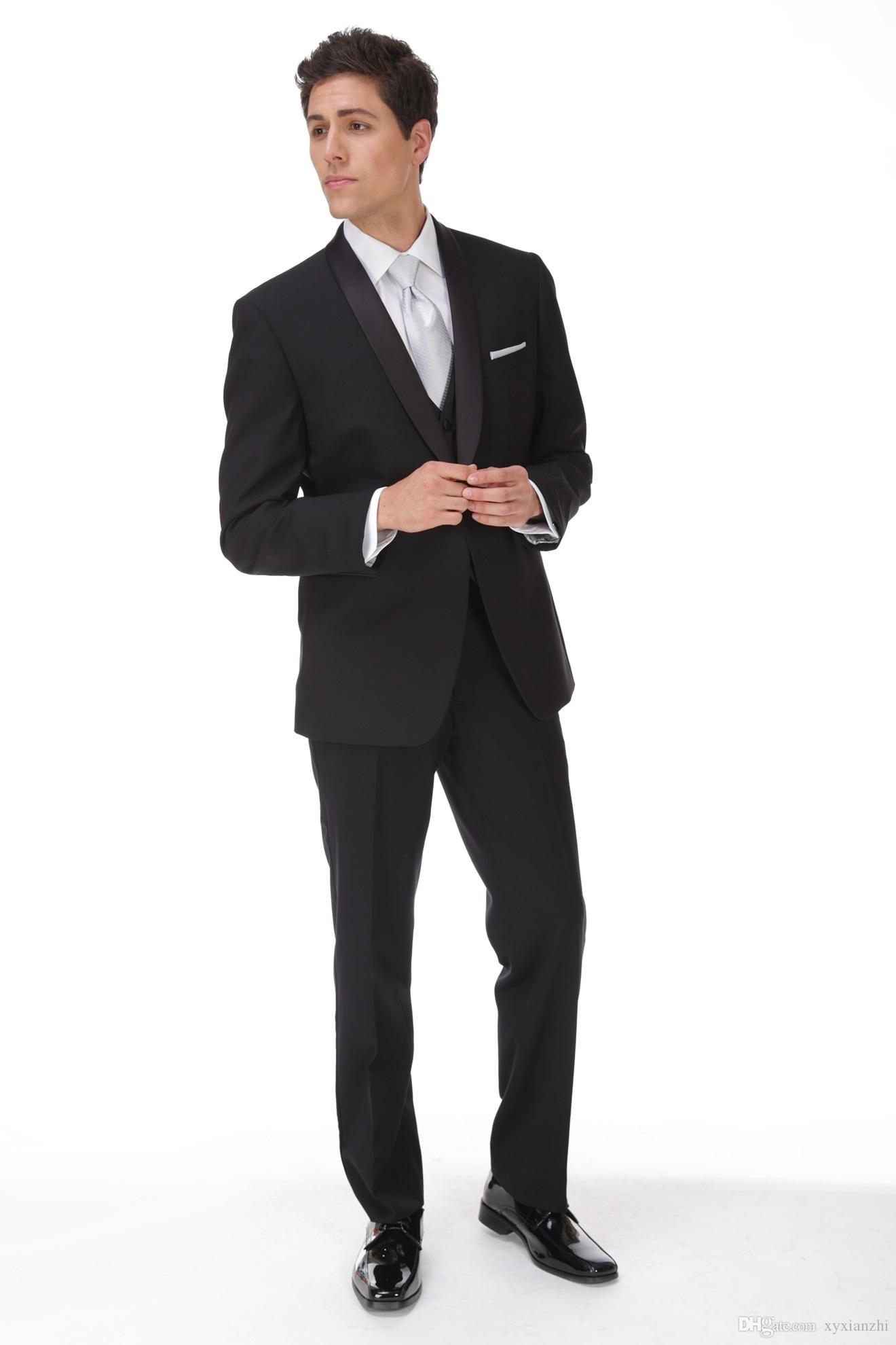 wedding suits for groom tuxedo black formal wear 2020 custom made suit 3 piece high quality