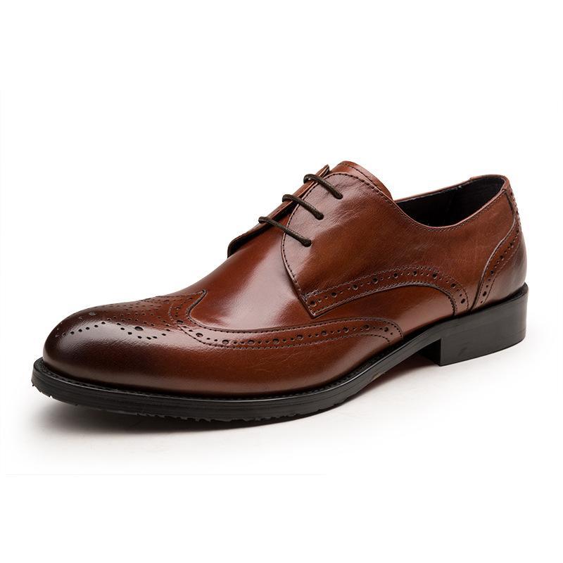 Men'sOxfords Yuvarlak Burun Resmi Giyim Oxfords Yuvarlak Burun İş Giyim Deri Ayakkabı Düğün Ayakkabı