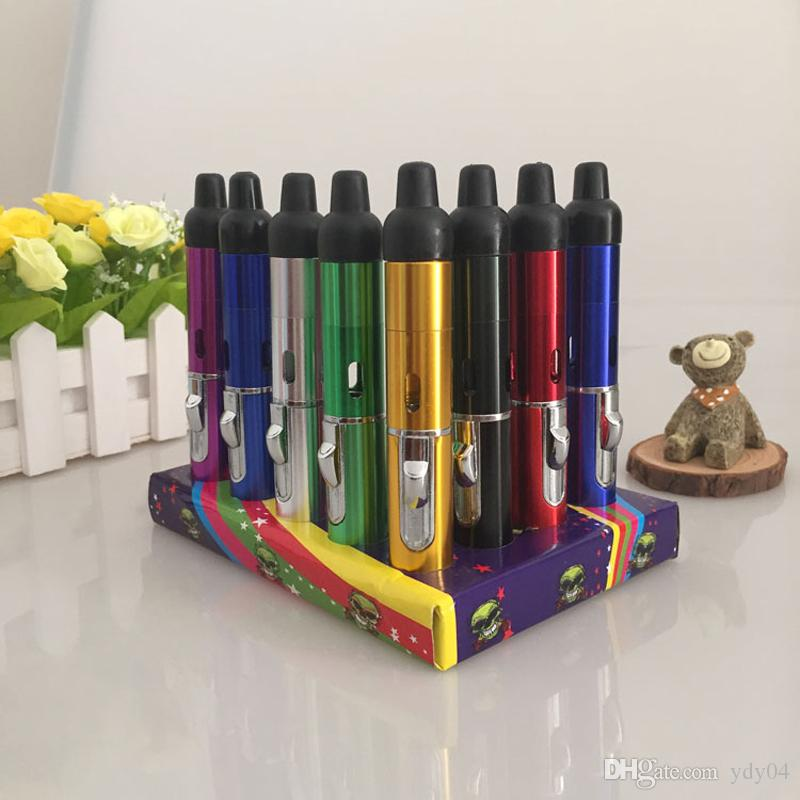 Sneak A Vape Click N Vape Dry Herbal Vaporizer Smoking Pipe Touch Flame Lighter with Built-in Wind Proof Jet Flame Torch Lighter
