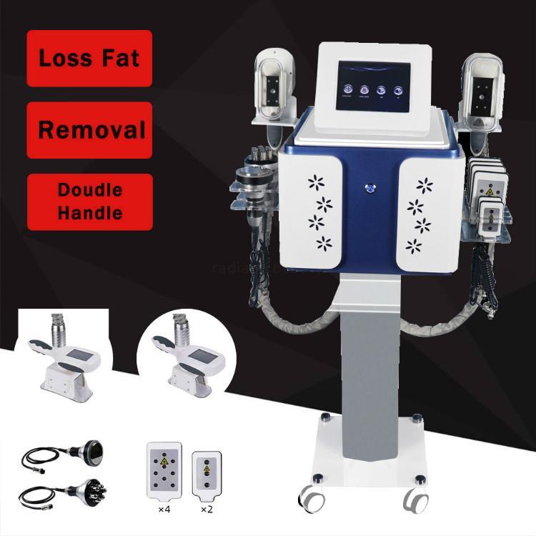 5 in 1 Cryolipolysis fat freezing machine lipolaser RF cavitation ultrasonic body sliming anti-cellulite fat burner weight loss beauty tool