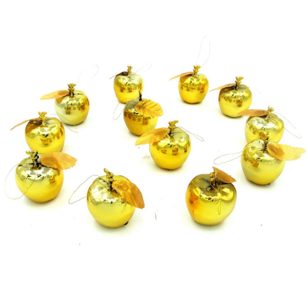 12pcs / set Noel Dekorasyon Elmalar Meyve kolye Noel ağacı Noel Süsleme Kaynağını Asma Süs Parti Etkinlikleri Asma