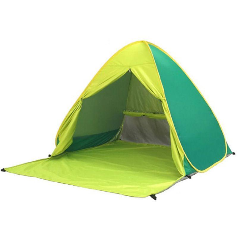 Tente de plage ultra léger Tente pliante -Jusqu'à Poisson Voyage automatique Famille Ouvert Camping Anti-Uv pleine Ombrelle