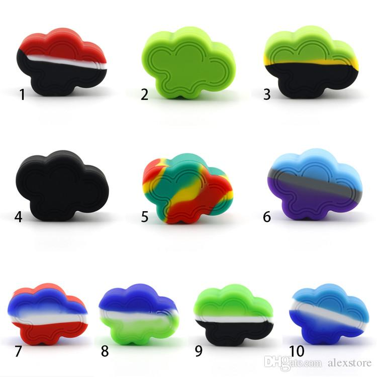 Cloud Shape Silicone Container Food Grade Rubber 22ML Non-stick Jars Dab Tool Rubber Storage Box Oil Holder Wax Container Vaporizer Vape
