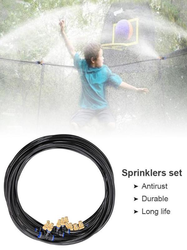 Giochi Trampolino di spruzzatore di acqua tubo ad alta precisione Mist Nozzle Estate Outdoor Water Fun gioco gioca