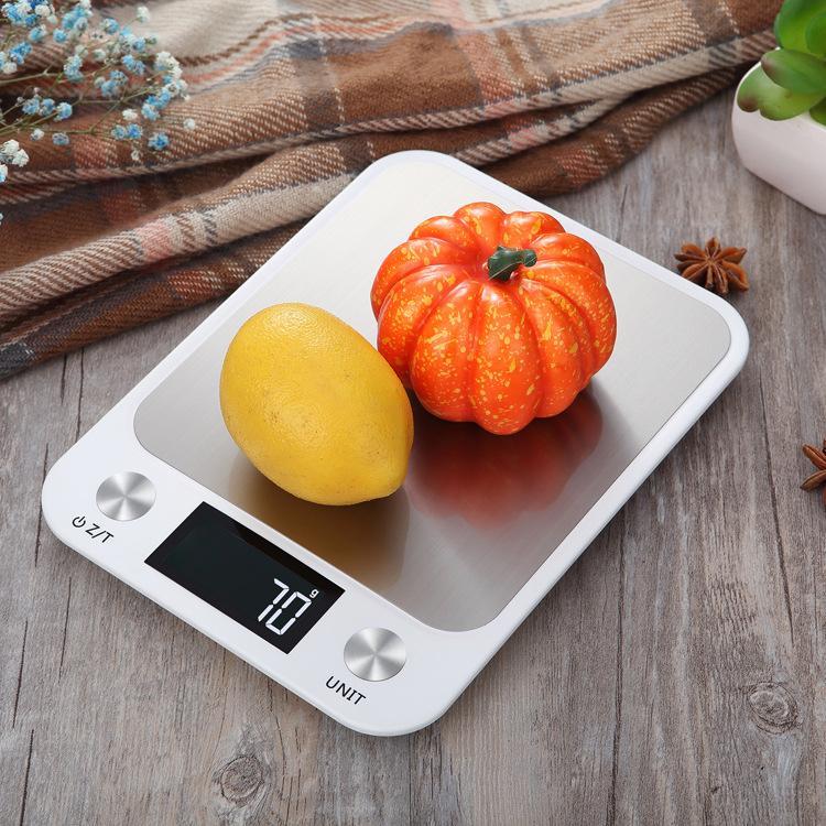 HOT بيع الجديد الفولاذ المقاوم للصدأ مقياس المطبخ 10KG عالية الدقة 1G الالكترونية مقياس الغذاء الخبز مقياس غرام سعيد شحن مجاني بالجملة