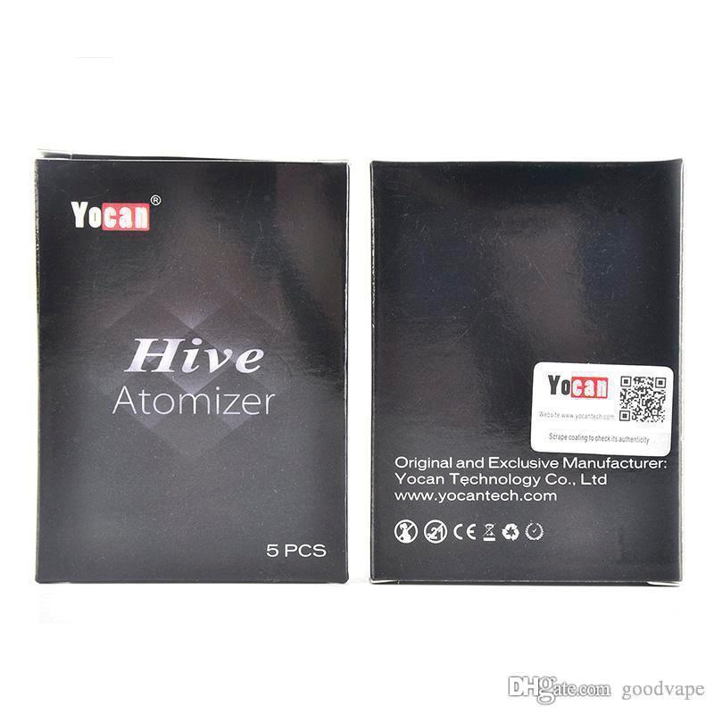 Goodvape Аутентичные Yocan Hive Форсунка Воск Испаритель масло Картриджи Нет Утечки Дизайн Tank Пластиковые пробки Упакованные Clearomizer