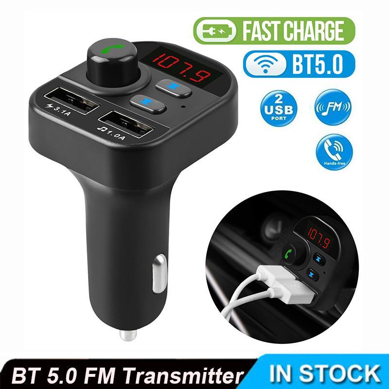 لاسلكي في السيارة بلوتوث FM الارسال MP3 راديو محول سيارة كيت 2 USB شاحن FM استقبال الارسال يدوي نداء
