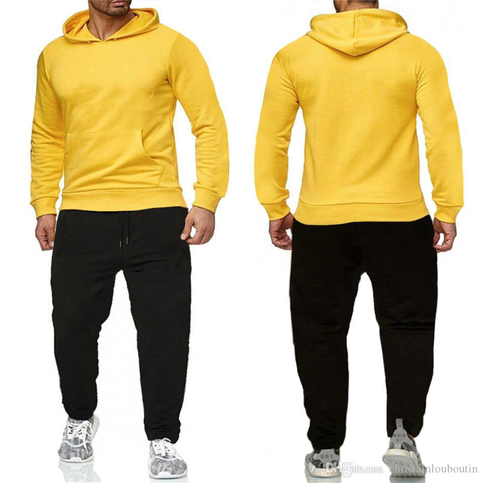 Maglione da uomo Abiti tuta tuta da uomo Sweatsuit Sport Suit Donne Jogging Giacca Felpa Set e Pantaloni Mens Hoodie Abbigliamento sportivo