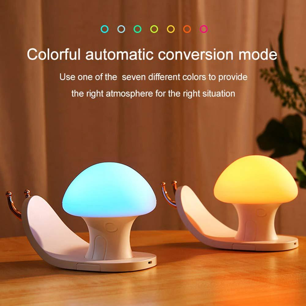 USB Charging Night Light Colorful RGBW Snail House Mobile Phone Bracket Child Touch Switch Living Room Bedroom