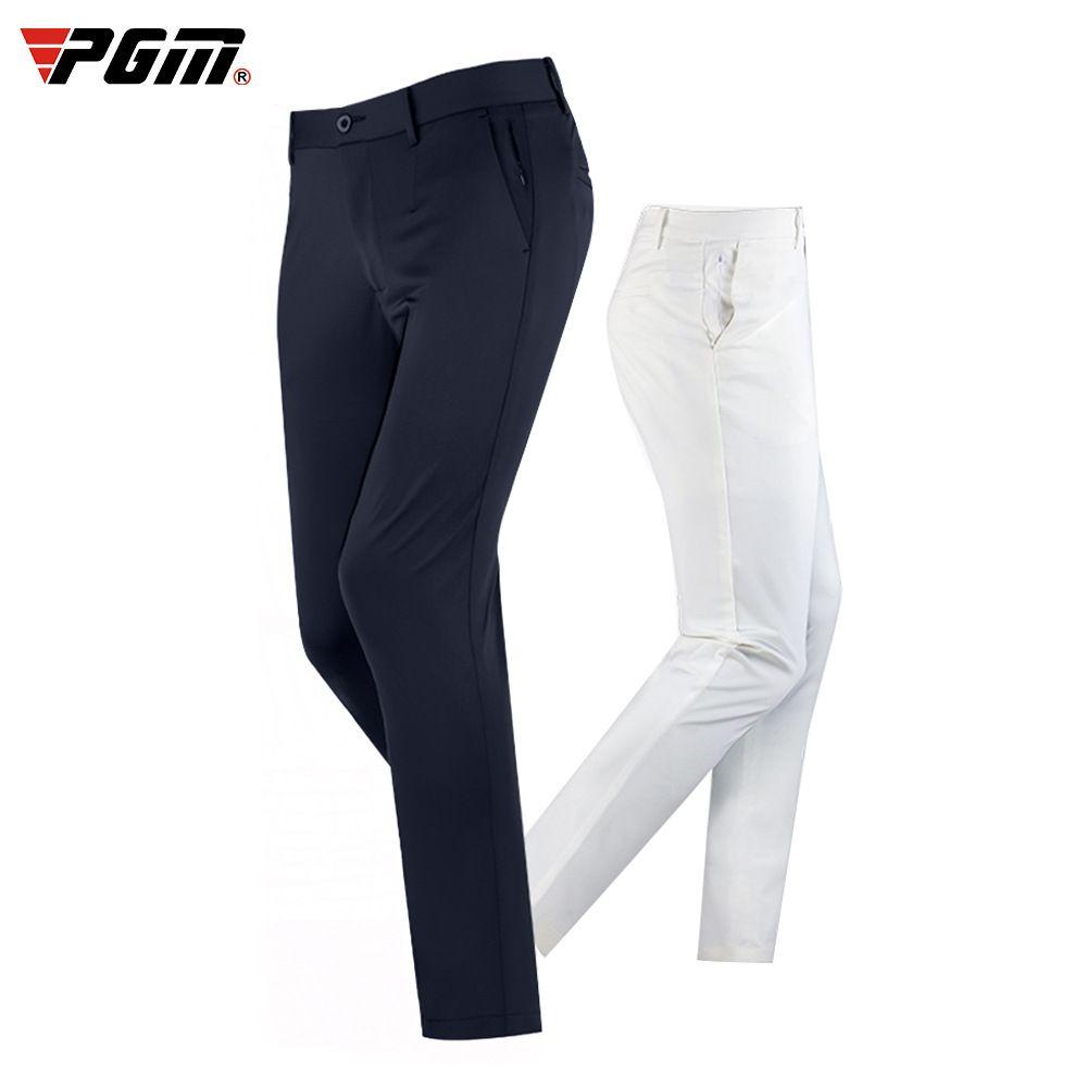 PGM Hommes Automne Hiver Pantalon de golf haut élastiques sport Pantalons simple Thicken Slim Zipper Pocket Golf Pantalon D0838