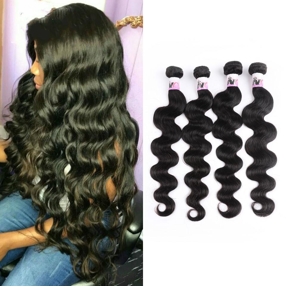 الشعر الحقيقي موجة الجسم البرازيلي 4 حزم من الشعر 100٪ الإنسان الشعر مضفر الطبيعية السوداء غير ريمي موجة الجسم حزمة للنساء السود