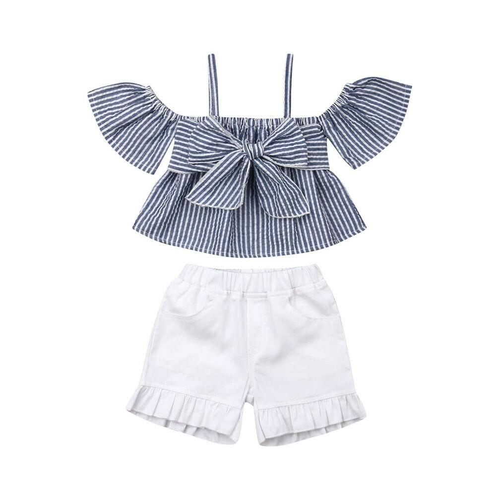 Boutique Toddler Kids Girl Bowknot Ruffle Long Sleeve Tops Blouses Shirt Clothes