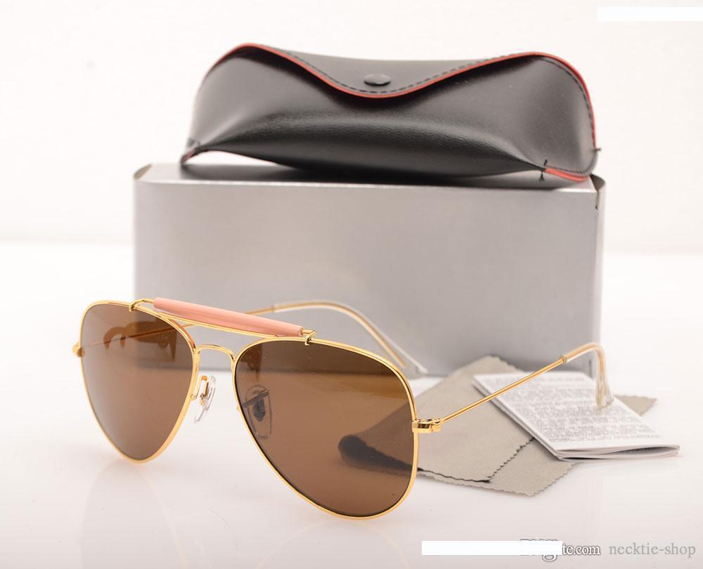 marca de estilo luxo- Homens Sun óculos vendas Mulher Sunglasses Hot óculos Marca Designer Sunglasses Unisex vêm com caixa Óculos de sol de limpeza