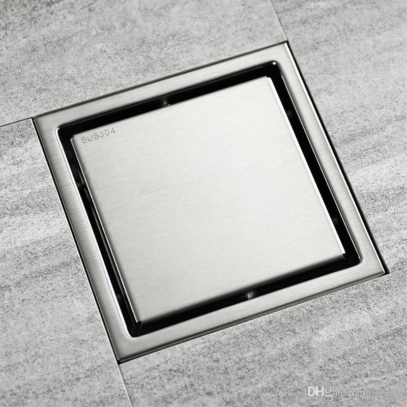 High Quality Stainless steel Bathroom Tile Invisible Shower Square Floor Drain Cover Hair Shower Catcher Clean Strainer