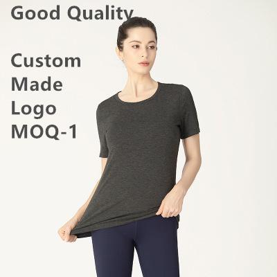 l Одежда для йоги Женская дизайнерская футболка с коротким рукавом u Летняя спортивная рубашка Same Style Fiber Lycra Футболки Fitness l Майки u