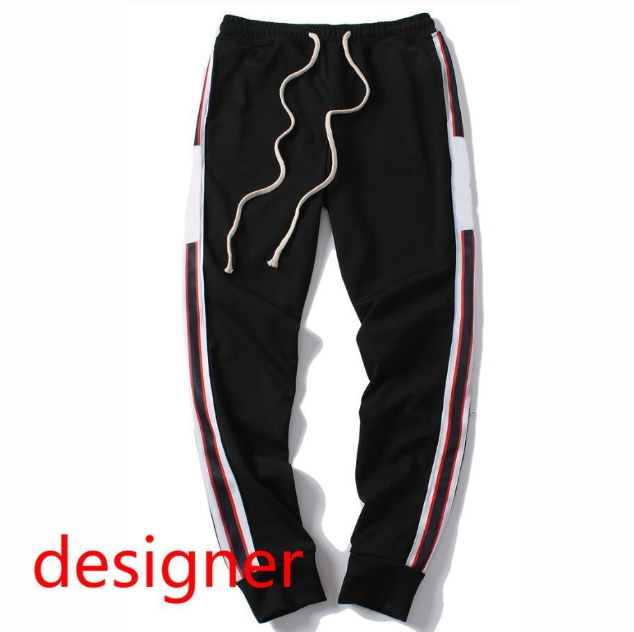 Calças Designer Primavera 19FW Logo Mens Made In Italy Homens Luxo Sweatpants letras impressas NOVO Moda Corredores da trilha Pant Clothes M-2XL Opção