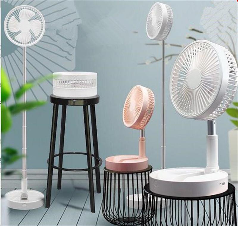 3 en 1 4 Vitesse Ventilateur Usb Charging ventilador pliant télescopique Ventilateur de plancher d'alimentation Cooler Air Conditioner Office des ménages Voyage