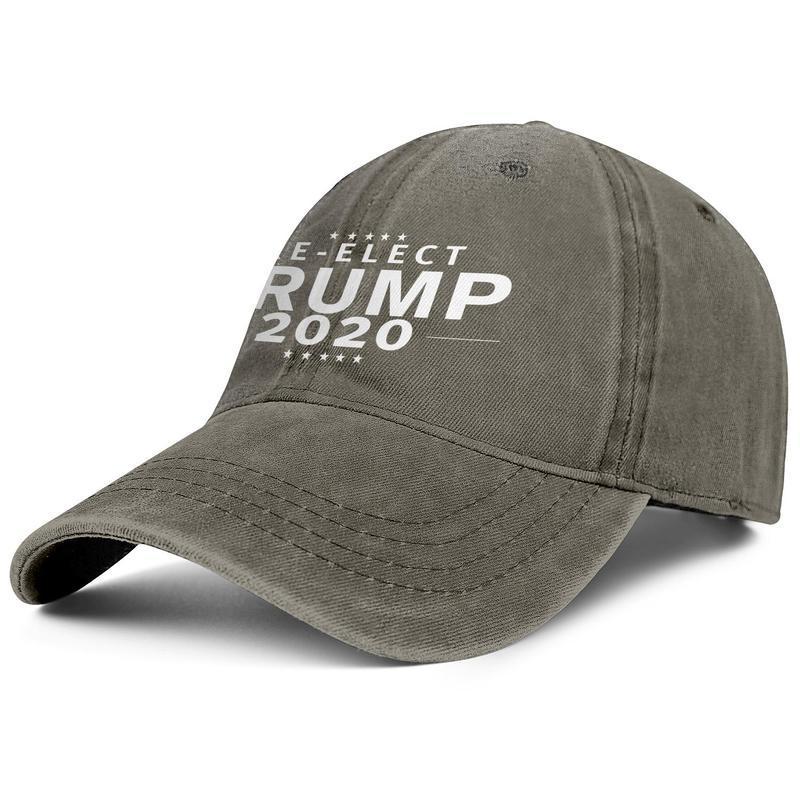Men Women vintage Denim wash Adjustable Trump 2020 white re-elect design ball hats Cotton Dad hats Outdoor