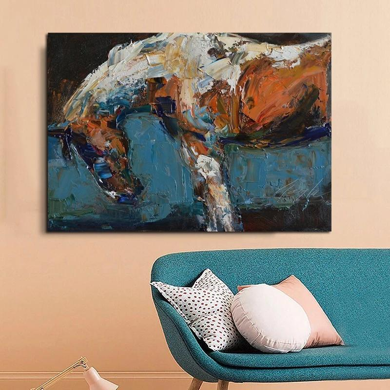 Abstract Horse Painting Animal Posters And Prints Oil Painting On Canvas Wall Art Picture For Living Room Decoration