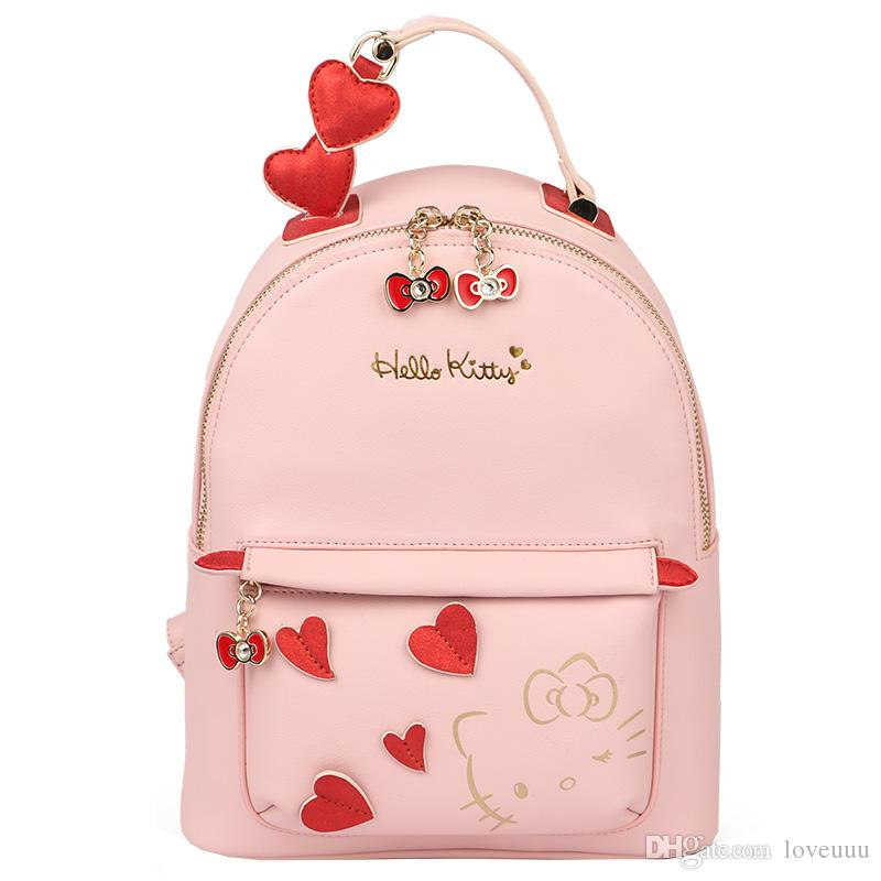 Hello kitty Backpack bag New Women Girl Shoulder bag Purse PU Leather 31cm (L) x 26.5cm (H) x 13cm(W)