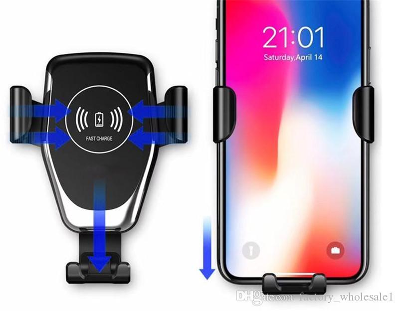 2019 HOT IT Fast QI Wireless شاحن سريع شاحن هاتف جاذبية شاحن سيارة متوافق مع نظام التشغيل Android IOS