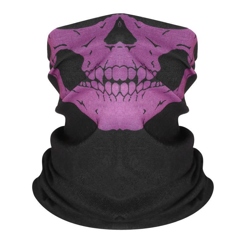 سلس جمجمة مغطى بحزام الهيب هوب السحري غطاء الرأس لركوب قناع الرقبة الوجه المغطى بالرأس سبورت ماجيك ربان جمجمة مطبوعة GGA3331-4