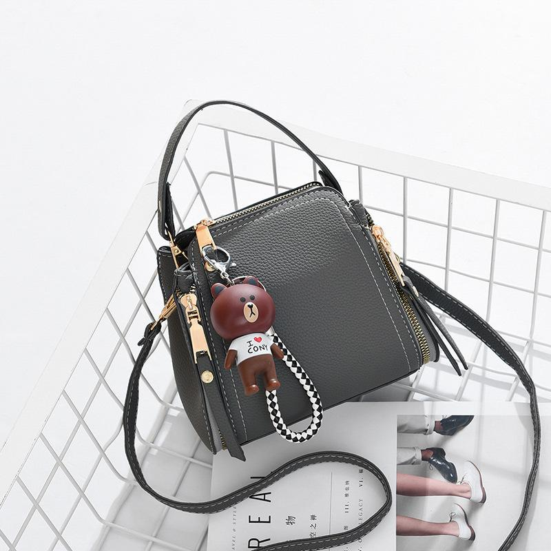 Belle2019 Satchel Gelgit Eğik Mini-Küçük Çanta Joker Tek Omuz Kadın Taşınabilir Kova Paketi