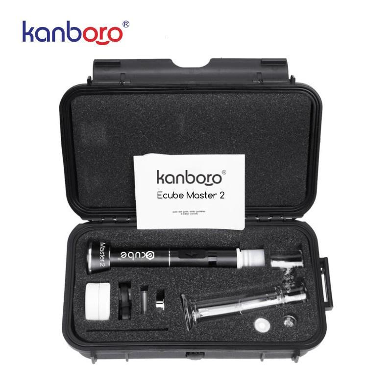 2020 toptan Kanboro Ecube kiti elektronik cigaretese kalem balmumu buharlaştırıcı kanborotech DAB kulesi 510 tırnak v3