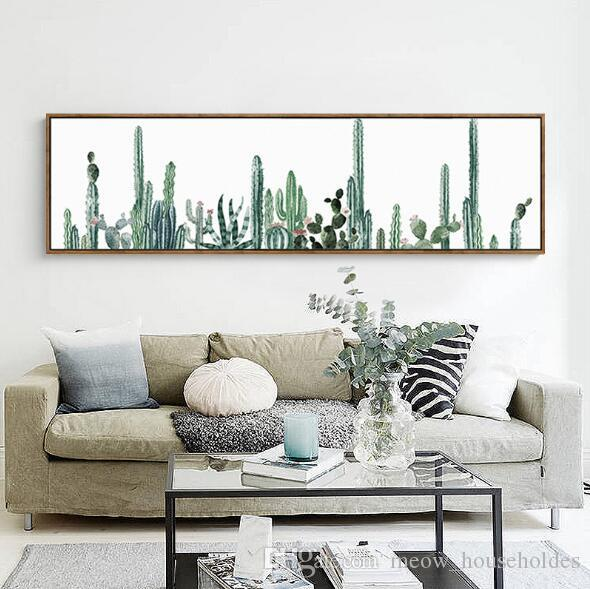 Modern simple pastoral green plant living room decoration dining room sofa background wall painting mural bedroom bedside painting hanging