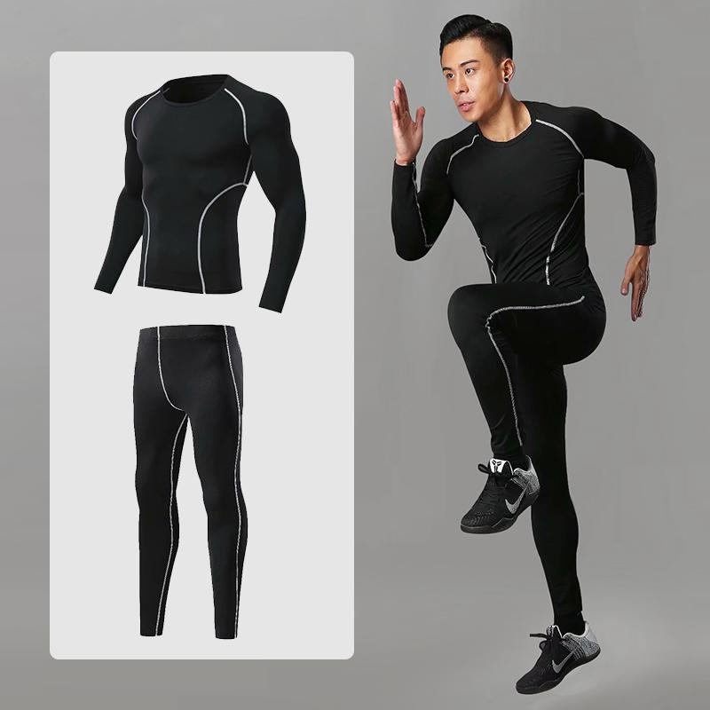 Men's Running Shoes Athletic Sportswear Fitness Training Clothes Physical gym Suits Training Jogging Workout Sportswear Dry Fit