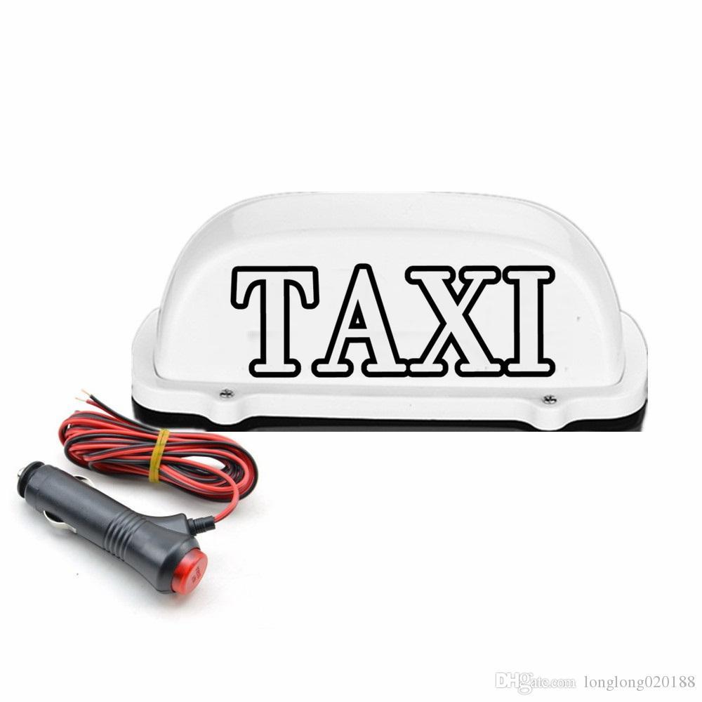 Nuevo 12V Impermeable Taxi Light LED Señal de techo Taxi Dome Light Con línea de enchufe de alimentación de 3 metros Compatible con los practicantes del conductor