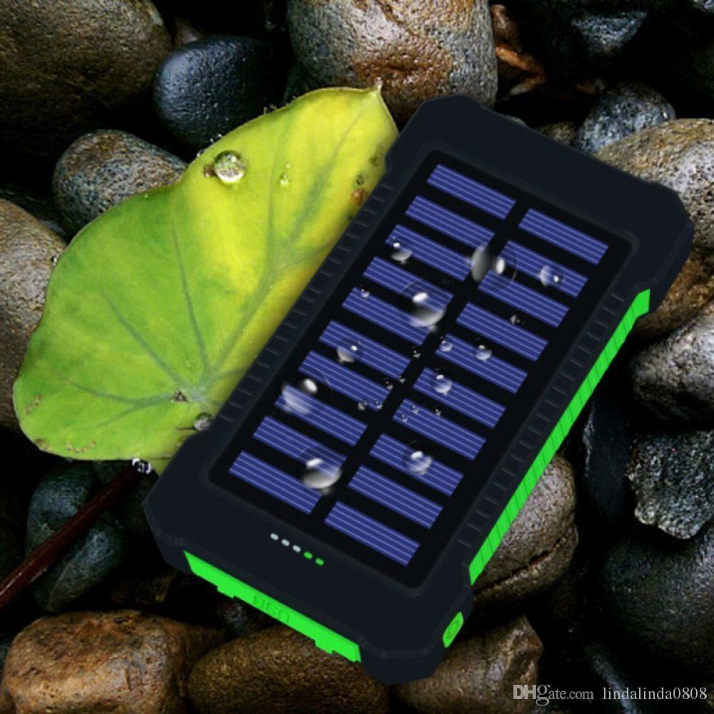 15000mAh Solar POWERBANK Быстрая зарядка Открытый моды питания банка Портативный внешний зарядное устройство пакет для MP4 Xiaomi iPhone